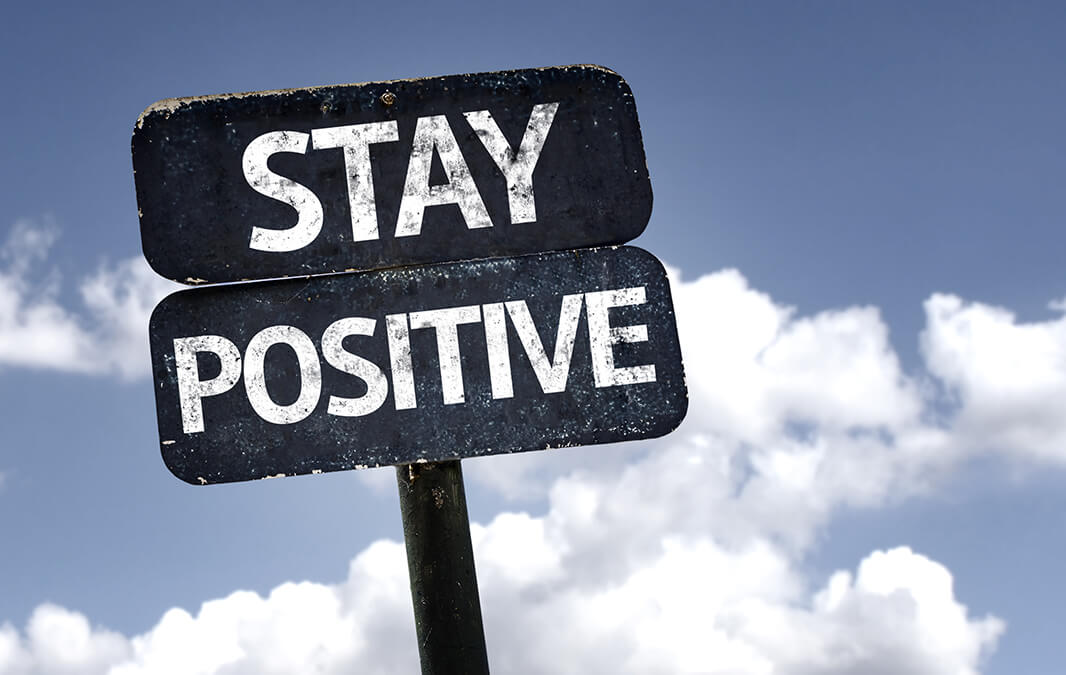 Stay Positive Sign Banner