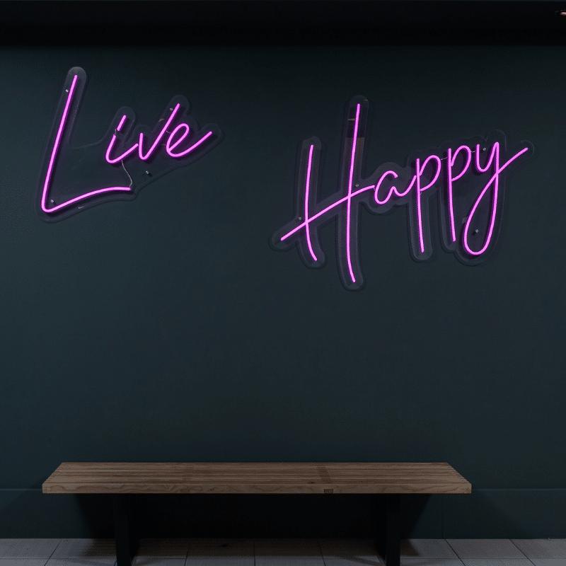 Live Happy Purple LED light