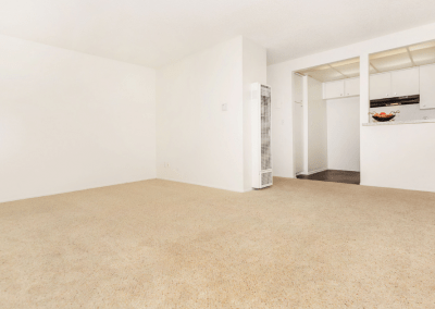 Spacious carpeted living room