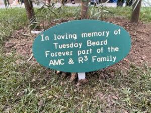 memorial for employee