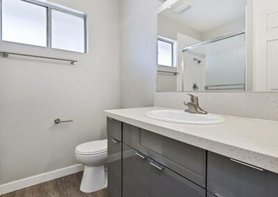 Bathroom with privacy window